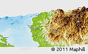 Physical Panoramic Map of La Union