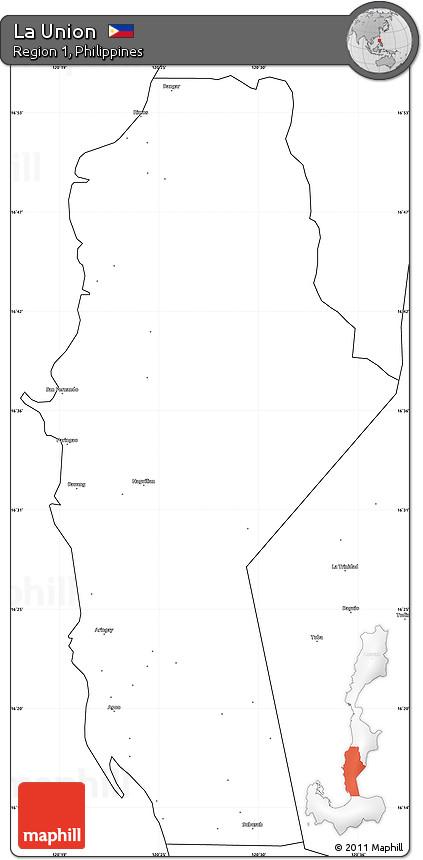 Free Blank Simple Map Of La Union - Launion map