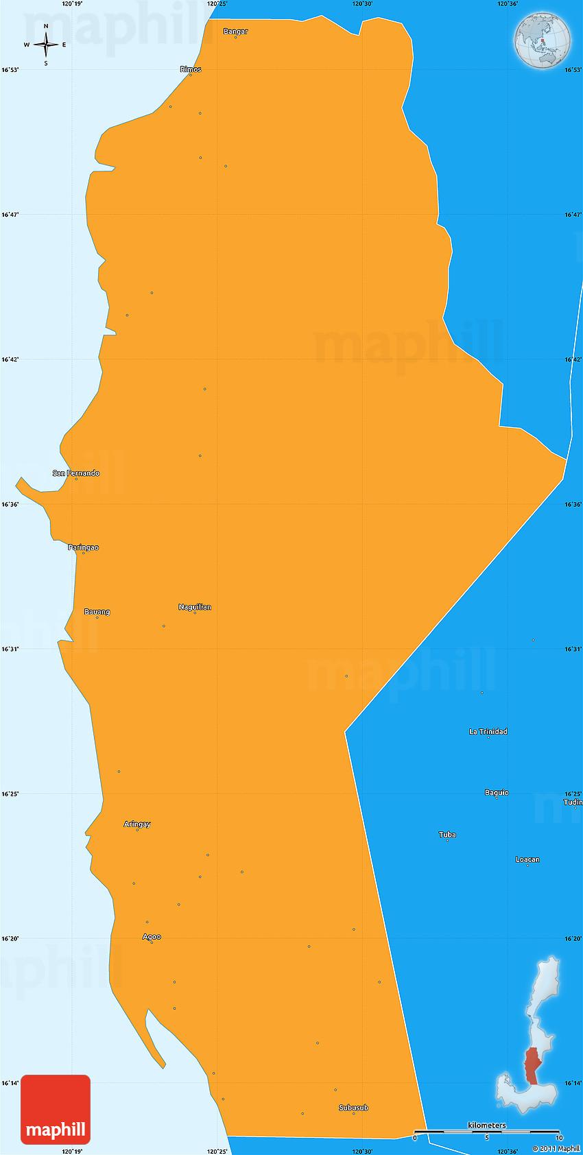 Political Simple Map Of La Union - Launion map