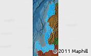 Political Shades Map of Region 1, darken