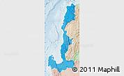 Political Shades Map of Region 1, lighten