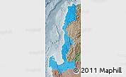 Political Shades Map of Region 1, semi-desaturated