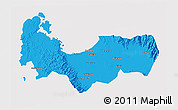 Political 3D Map of Pangasinan, cropped outside