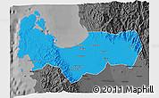 Political 3D Map of Pangasinan, darken, desaturated
