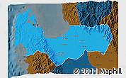 Political 3D Map of Pangasinan, darken
