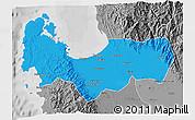 Political 3D Map of Pangasinan, desaturated