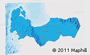 Political 3D Map of Pangasinan, single color outside