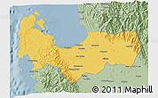 Savanna Style 3D Map of Pangasinan