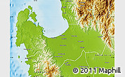 Physical Map of Pangasinan