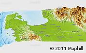 Physical Panoramic Map of Pangasinan