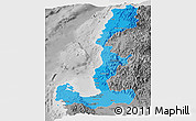 Political Shades Panoramic Map of Region 1, desaturated