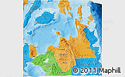 Political Shades 3D Map of Region 10