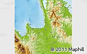 Physical Map of Agusan Del Norte
