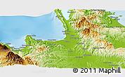 Physical Panoramic Map of Agusan Del Norte