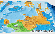 Political Shades Panoramic Map of Region 10