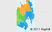 Political Shades Simple Map of Region 11