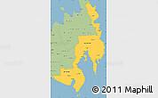 Savanna Style Simple Map of Region 11