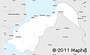 Silver Style Simple Map of Lanao Del Norte