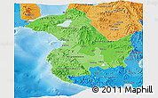 Political Shades Panoramic Map of Region 12