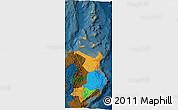 Political 3D Map of Region 2, darken