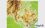 Physical 3D Map of Nueva Vizcaya