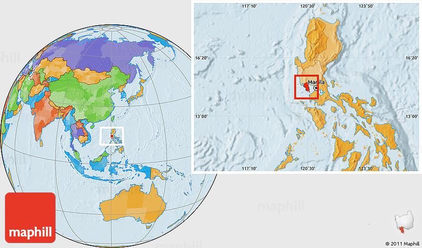 Political Location Map Of Bataan