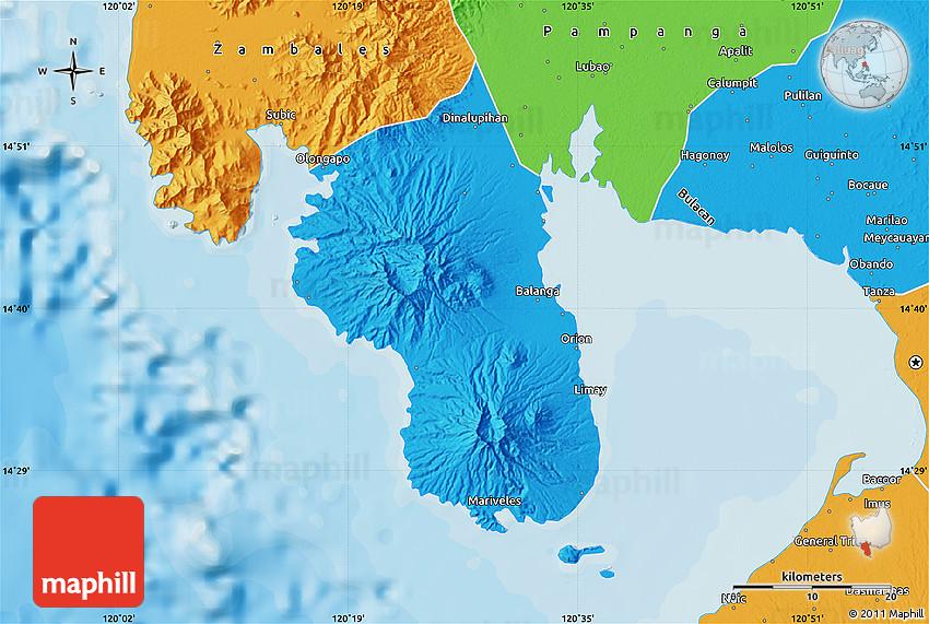 Political Map Of Bataan