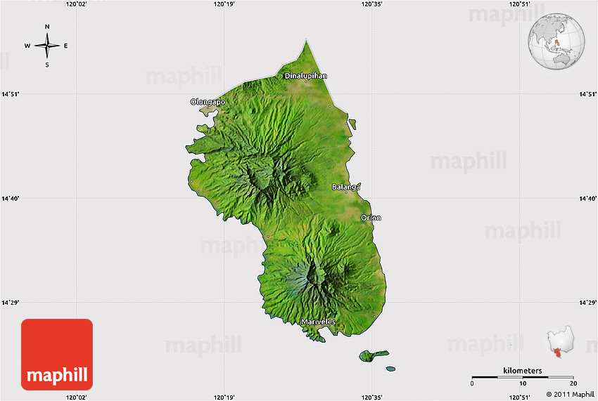 Satellite Map Of Bataan Cropped Outside