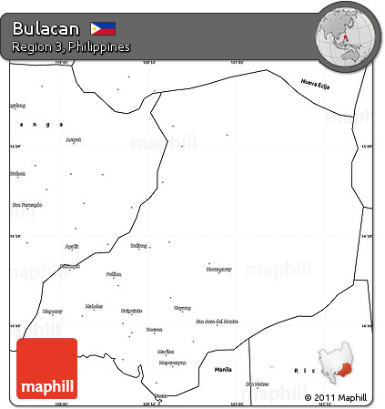 Free Blank Simple Map Of Bulacan - Bulacan map philippines