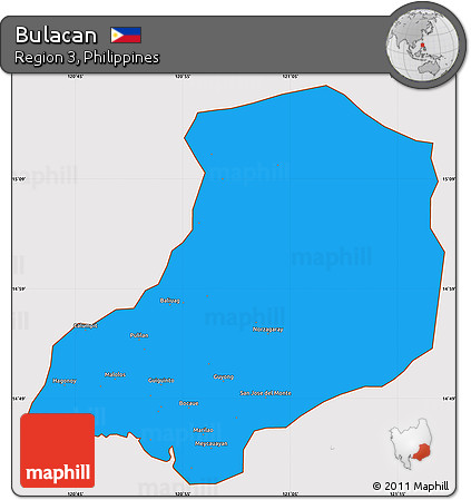 Free Political Simple Map Of Bulacan Cropped Outside