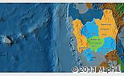 Political Map of Region 3, darken
