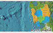 Political Map of Region 3, satellite outside