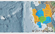 Political Map of Region 3, semi-desaturated