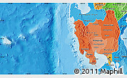 Political Shades Map of Region 3