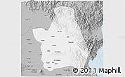 Gray 3D Map of Nueva Ecija