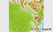 Physical 3D Map of Nueva Ecija