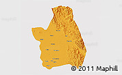Political 3D Map of Nueva Ecija, cropped outside