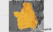 Political 3D Map of Nueva Ecija, darken, desaturated