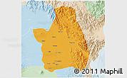 Political 3D Map of Nueva Ecija, lighten