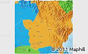 Political 3D Map of Nueva Ecija