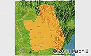 Political 3D Map of Nueva Ecija, satellite outside