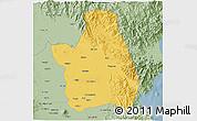Savanna Style 3D Map of Nueva Ecija