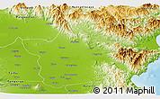 Physical Panoramic Map of Nueva Ecija