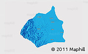 Political 3D Map of Tarlac, cropped outside