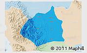 Political 3D Map of Tarlac, lighten