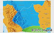 Political 3D Map of Tarlac