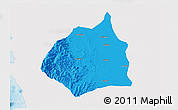 Political 3D Map of Tarlac, single color outside