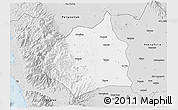 Silver Style 3D Map of Tarlac