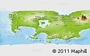 Physical Panoramic Map of Batangas