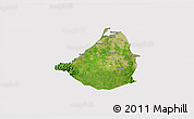 Satellite 3D Map of Cavite, cropped outside